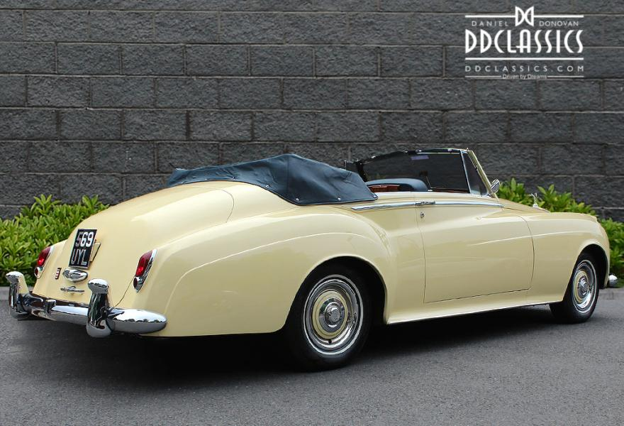 left hand drive convertible rolls-royce silver cloud II for sale