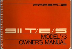 Original Porsche 911s Owners Manual