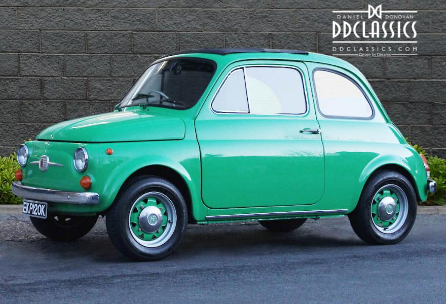 Green Fiat 500 for sale 1972