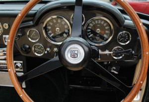 Aston Martin DB steering wheel