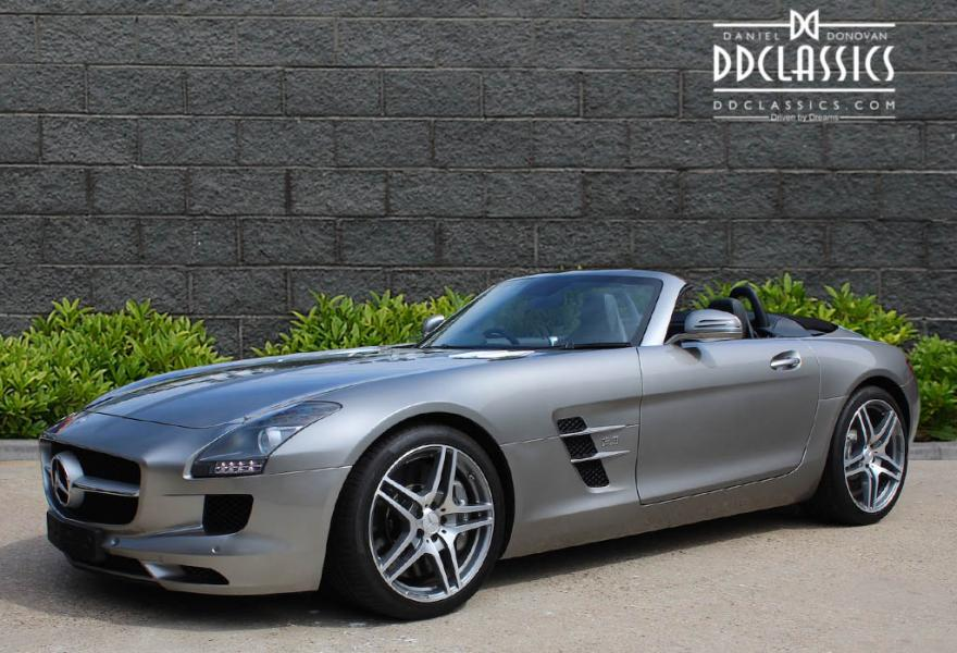 Mercedes benz sls amg roadster rhd del miles for Mercedes benz sls amg for sale
