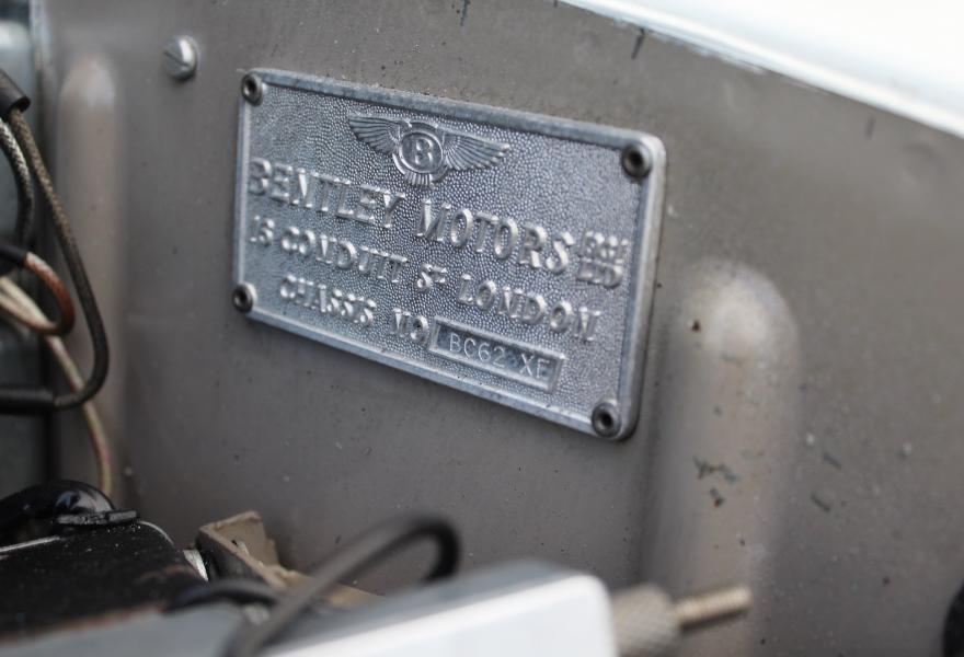 bentley chassis plate
