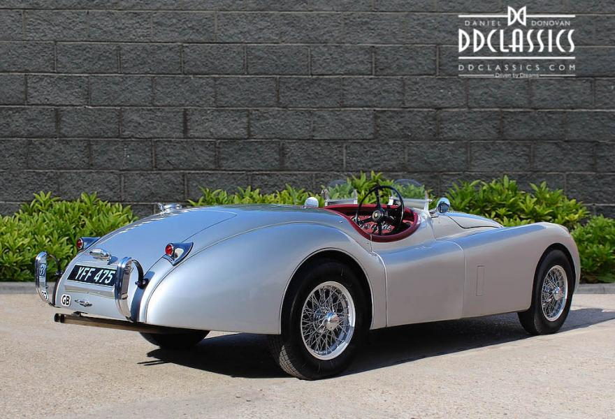 vintage jaguar xk120 for sale at DD Classics