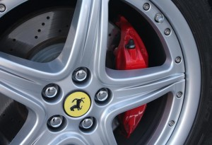 red ferrari brake calipers