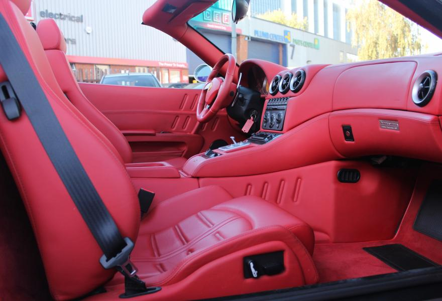 rosso hide ferrari for sale