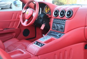 red ferrari interior
