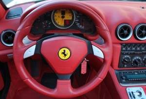 ferrari red leather steering wheel