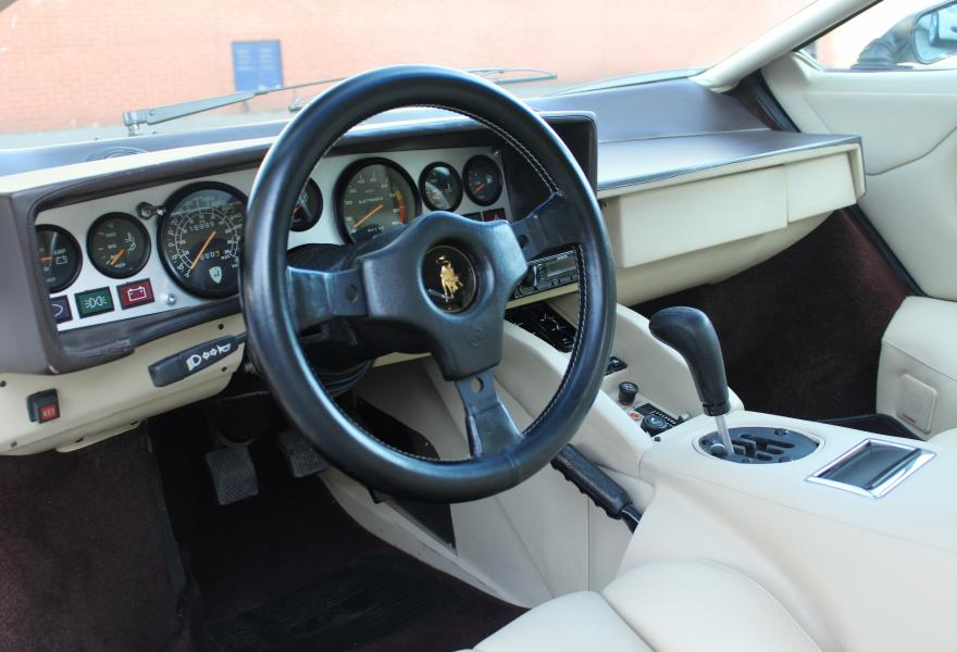 countach supercar interior