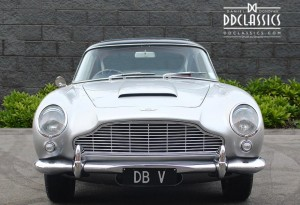aston martin db5 in silver birch picture