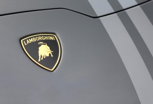 picture of a lamborghini badge close up