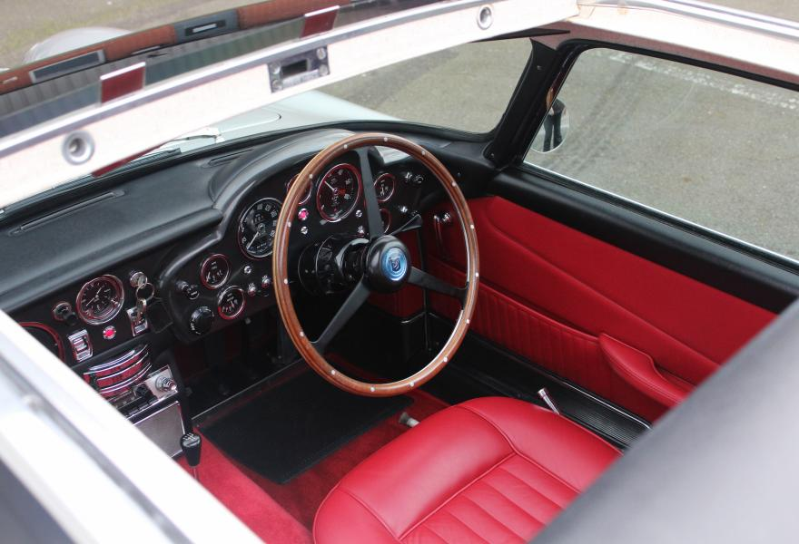 aston martin db5 red interior
