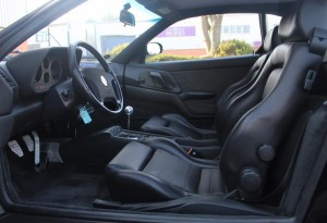 black ferrari 355 interior