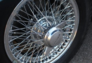jaguar e-type chrome wire wheels