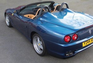 ferrari 550 barchetta in blue scuro