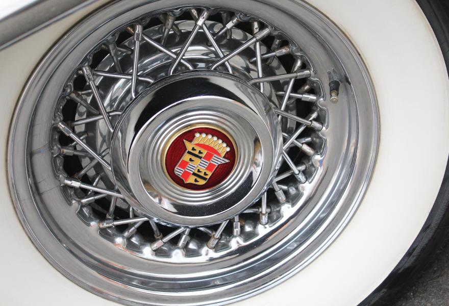 cadillac chrome wire wheels