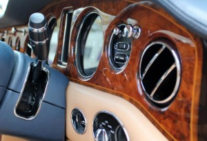 rolls-royce walnut wood