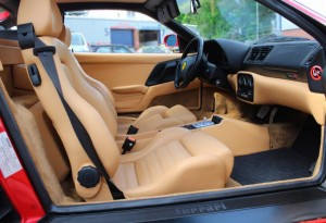 tan leather ferrari 355 berlinetta
