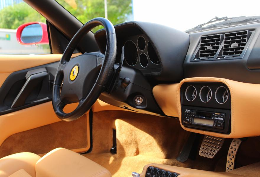 ferrari f355 with tan interior