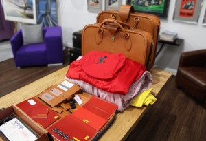 complete ferrari luggage set for sale