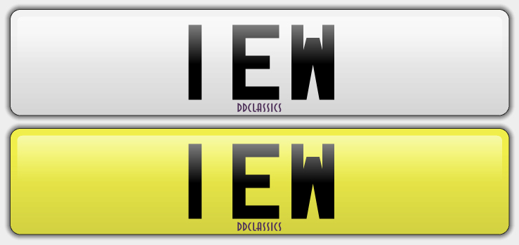 UK Registration Number For Sale - 1 EW
