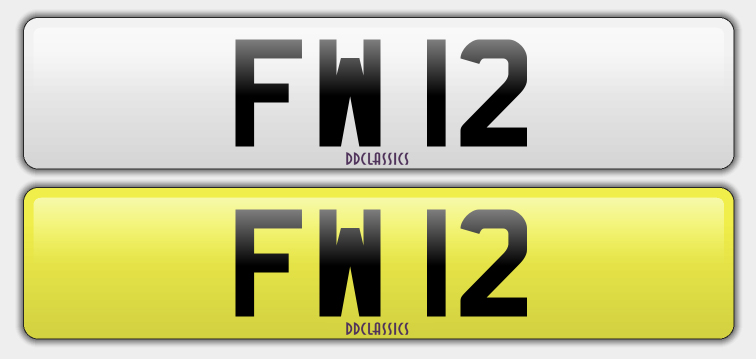 UK Registration Number For Sale - FW 12