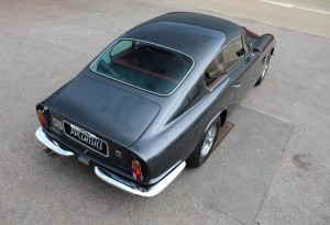 1970 Aston Martin DB6 Black Pearl metallic with St James Red hide