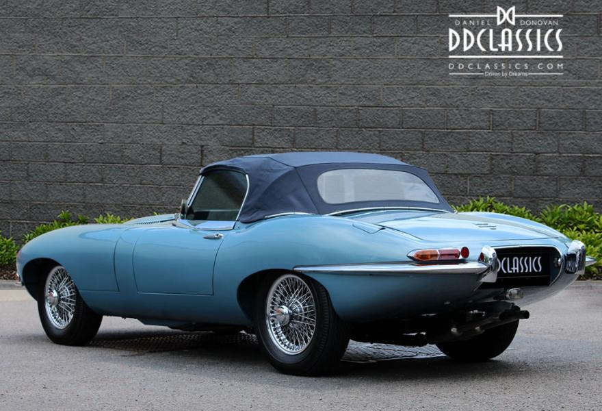 jaguar e type blue rhd