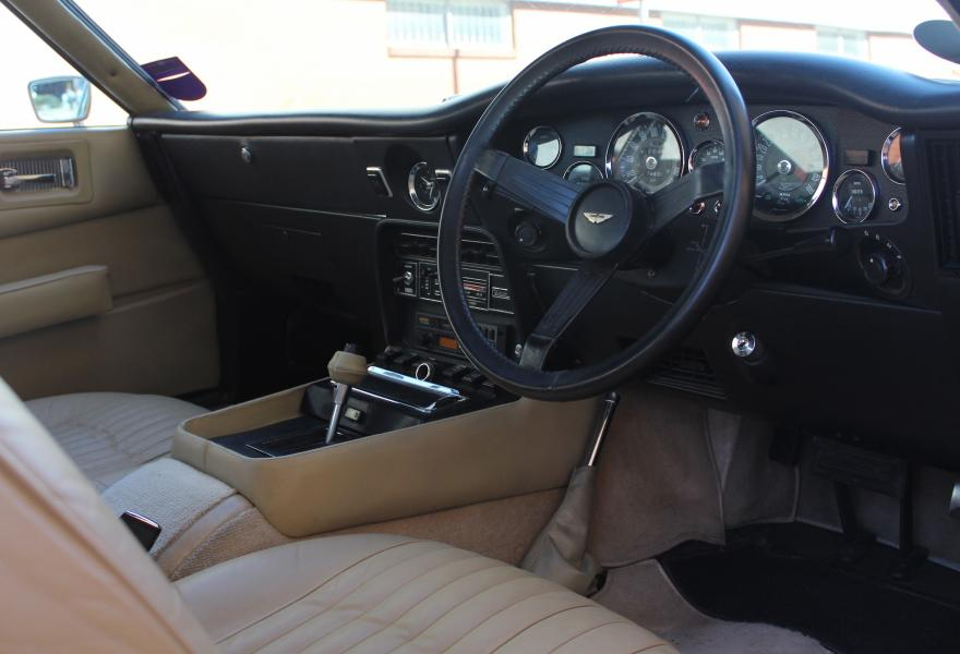 aston martin amv8 interior