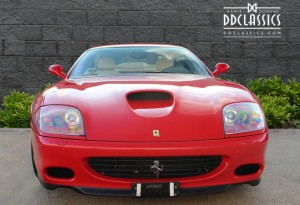 The Ferrari 575M Maranello is a two-seat, two-door, grand tourer built by Ferrari. Launched in 2002, it is essentially an updated 550 Maranello