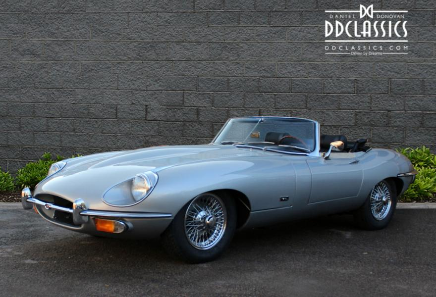 silver jaguar e-type convertible for sale series 2 4.2 litre