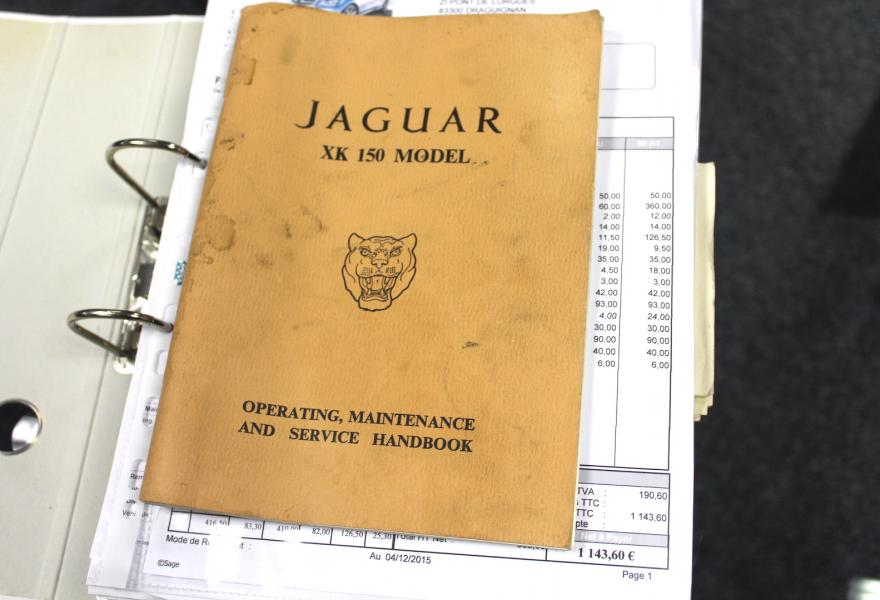 jaguar xk150 for sale with lots of paperwork