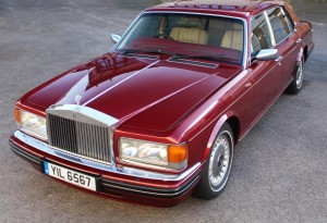 red pearl rolls-royce silver spur IV for sale