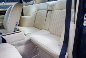 rear seats of aston martin v8