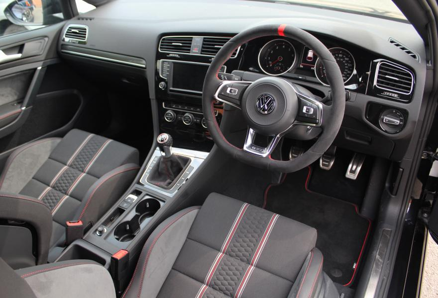 interior image of a 2017 volkswagen gold gti clubsport s